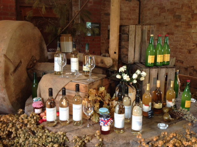 Local produce shop on Herefordshire vineyard