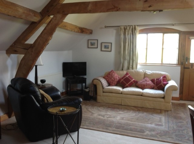 sitting room in hop cottage