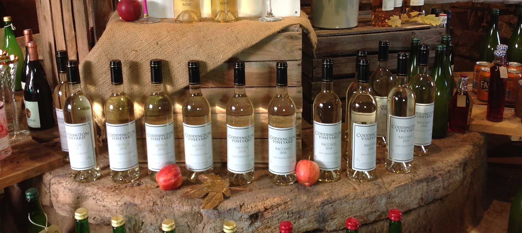 selection of english white wines